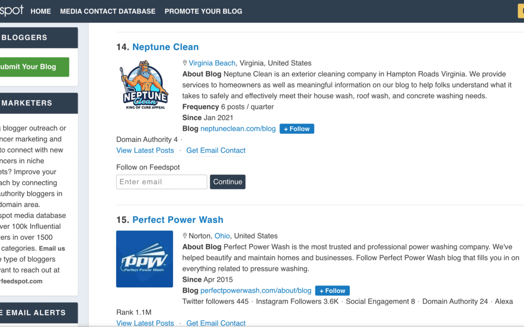 Neptune Clean Is In The Top 30 Pressure Washing Blogs!