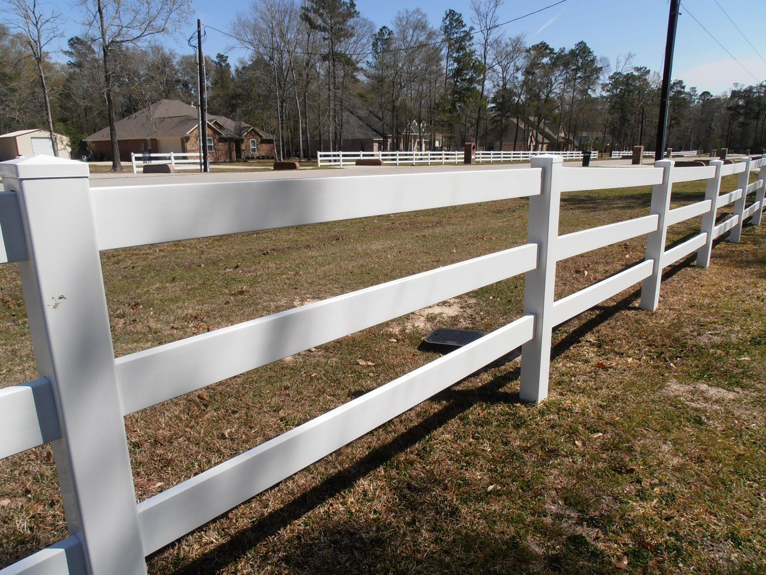 clean vinyl fence