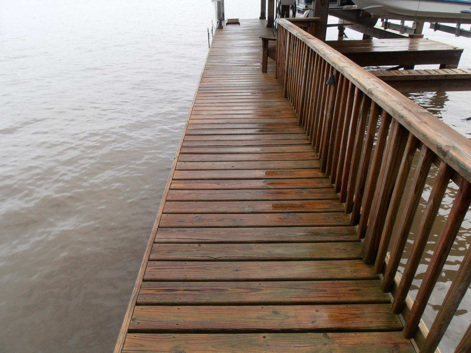 Soft Wash wood docks