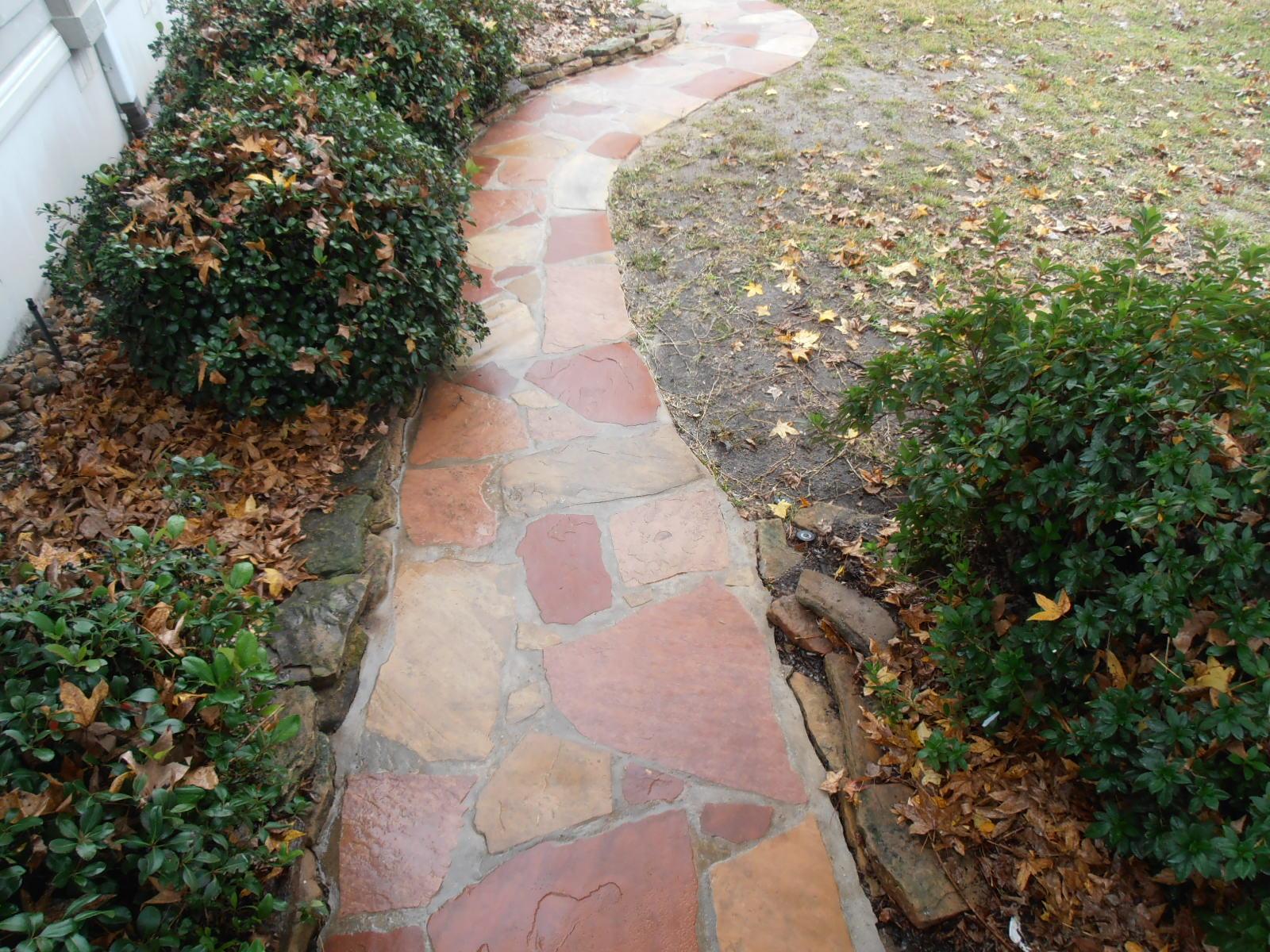 clean stone walkway