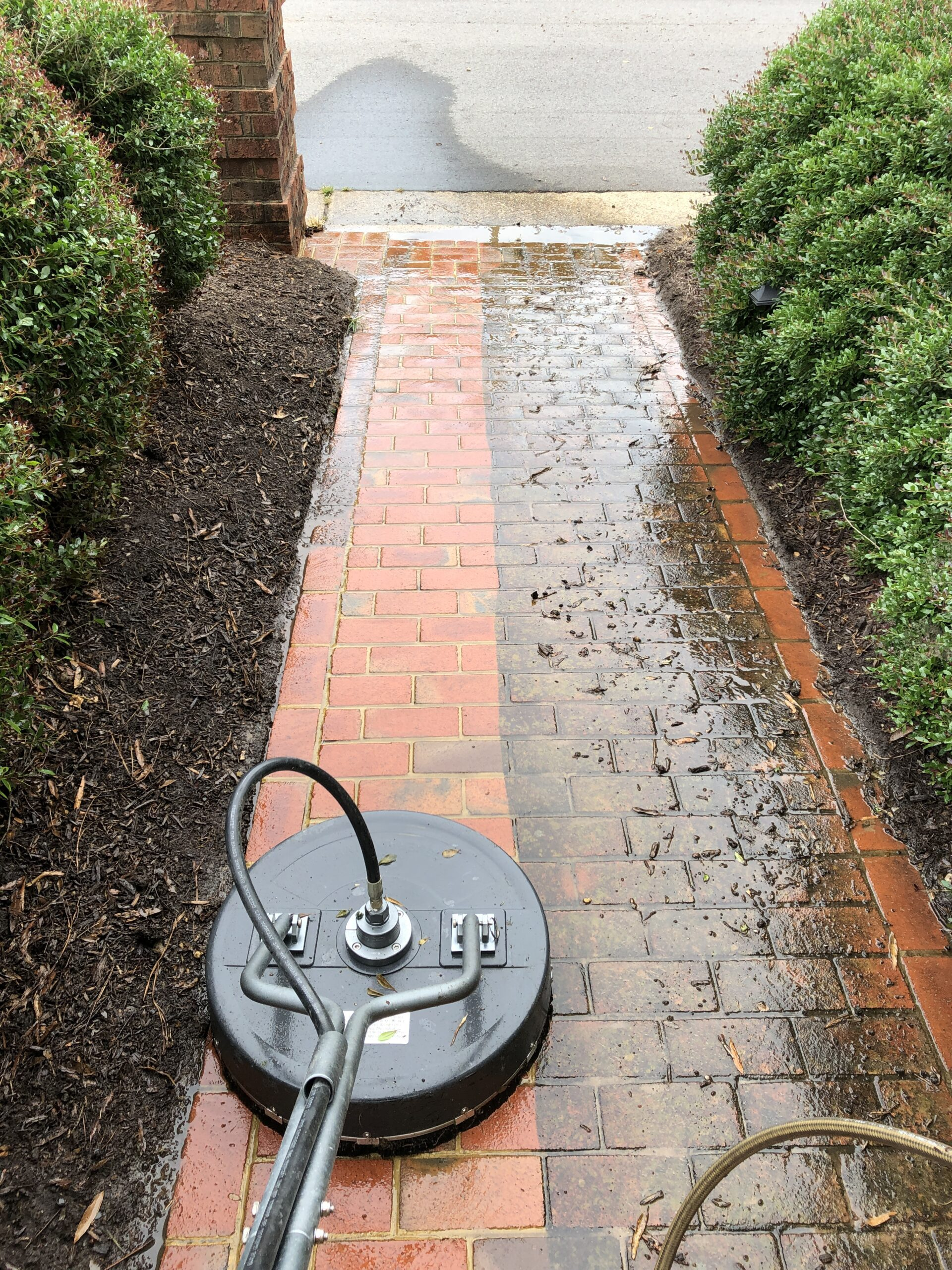 How to clean paver walkway